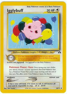 Pokemon Neo Discovery Card 40 - Igglybuff (Card was listed on Pokeorder's site, but in an odd place)