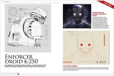 Star Wars K-2SO Design drawings poster Free delivery cheap modern paintings 60X90 cm