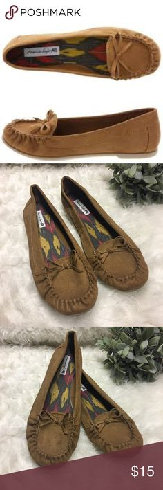 Moccasin Style Flats Moccasin style flats from American Eagle by Payless. Like new, rarely worn, and in great condition. Offers are welcomed and I love to bundle so check out the rest of my closet and no trades or holds please. American Eagle By Payless Shoes Moccasins