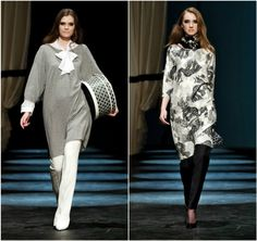 Malene Birger modest fashion hijabi style hijab style modest style long shirt copenhagen fashion week danish designer fashion week 2013 runw...