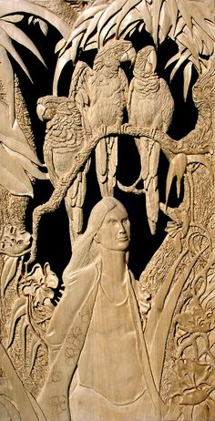 Fine Wood carving by Dominic Koval Cnc Wood Carving, Wood Carvings, Fine Woodworking, Woodworking Projects, Wood Plans, Wood Working For Beginners, Fantastic Art, Wood Sculpture, Clay Art