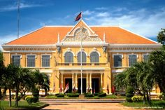 colonial architecture cambodia - Google Search Colonial Exterior, French Colonial, Colonial Architecture, Battambang Cambodia, Outdoor Living, Mansions, House Styles, Building, Google Search