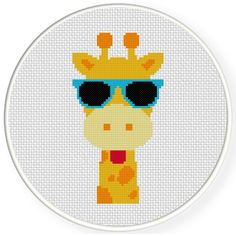 Charts Club Members Only: Cool Giraffe Head Cross Stitch Pattern
