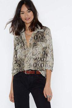0df91a4c4a8 Drapey tie-neck sleeveless top in leopard print   Women shirts ...