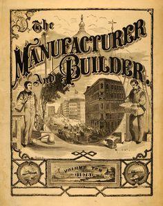 Manufacturer & Builder Magazine 1878