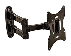 awesome NavePoint Articulating Wall Mount Bracket With Tilt Swivel For LED LCD Plasma Flat Screen TV From 17-37 Inches Black - For Sale