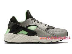 new concept 6e966 bcfc5 Nike Air Huarache Run Officiel Basket Pas Cher Chaussures Pour Homme Gris  Vert 318429-013