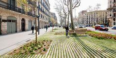 Pedestrian boulevard design for Passeig de St Joan, Barcelona by Lola Domenech.