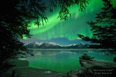 Whirled View, aurora borealis photo from Alaska