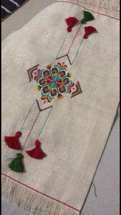 Embroidery detail from table cloth. Olga Malanchuk made this in 1957 from a Nasha Chata magazine pattern. Hand Work Embroidery, Embroidery Flowers Pattern, Hand Embroidery Stitches, Hand Embroidery Designs, Embroidery Techniques, Ribbon Embroidery, Embroidery Art, Cross Stitch Embroidery, Machine Embroidery