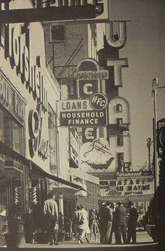 1960s SALT LAKE CITY Utah vintage theatre marquee vintage street signs Photo by Rondal Partidge