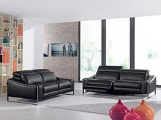 LESSER - Ce salon classique est facile à combiner grâce à ses lignes sobres et couleur noire | Meubles Lambermont