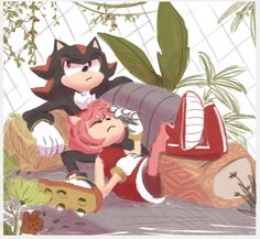 Tropical Love by piranha-ha on DeviantArt mineee~! #shadamy #sonicthehedgehog #shadow #amyrose