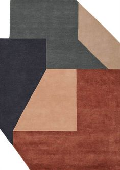 Alton - Various - Katalog Hard Edge Painting, Elements Of Color, Art Deco Rugs, Modern Art Deco, Geometric Rug, Color Shapes, Textiles, Nordic Design, Carpet Design