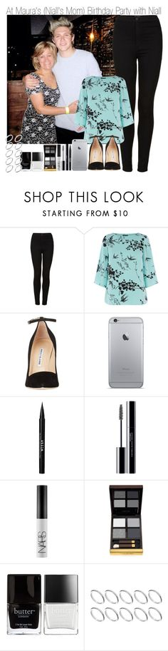 """At Maura's Birthday Party with Niall"" by elise-22 ❤ liked on Polyvore featuring Topshop, Warehouse, Manolo Blahnik, Stila, shu uemura, NARS Cosmetics, Tom Ford, Butter London and ASOS"