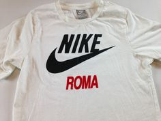 Nike Roma T-Shirt Womens Small Soccer Futbol Italy Rome Italian Soft Cotton Tee http://www.ebay.com/itm/-/262454135996?roken=cUgayN&soutkn=iCNHYt #bogo #epl #goal #clothes #mondays