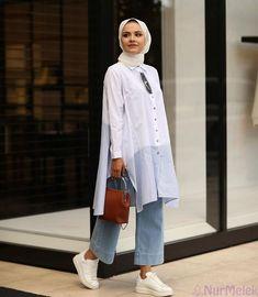 Hijab Fashion Summer, Modest Fashion Hijab, Modern Hijab Fashion, Street Hijab Fashion, Muslim Fashion, Fashion Outfits, Fashion Fashion, Hijab Casual, Stylish Hijab