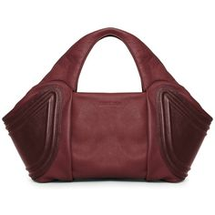 Gretchen Tango Small Tote Beetroot Red ($500) ❤ liked on Polyvore featuring bags, handbags, man bag, leather handbags, leather hand bags, leather purses and tote handbags