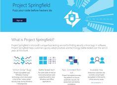 #Seguridad #búsqueda #herramienta Microsoft lanza Project Springfield, herramienta en la nube para la búsqueda de vulnerabilidades