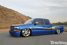 2000 Silverado project truck finished, Blue and beautiful