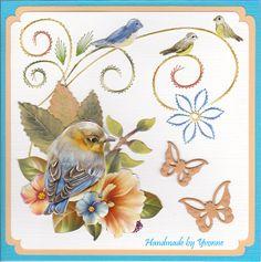 Ann's Paper Art - 3d Embroidery sheet #13