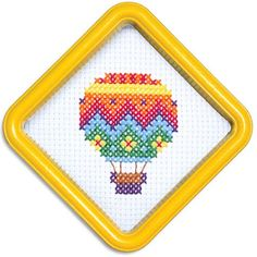 Hot Air Balloon Cross-Stitch