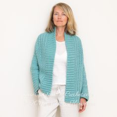 Aquatic Cardigan Crochet Pattern