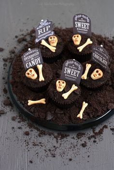 tombstone cupcake topper gothic tea party