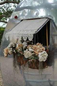 Airstream flower box