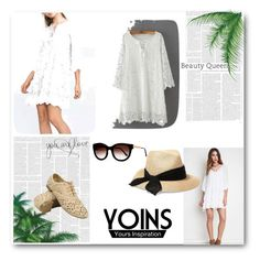 """""""Dress"""" by belma0 ❤ liked on Polyvore featuring Thierry Lasry and Eugenia Kim"""