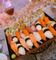 The DuPont Wedding Collection - Sushi Lgbt Wedding, Hotel Wedding, Wedding Appetizers, Wedding Reception Venues, Catering, Sushi, Creativity, Ethnic Recipes, Collection