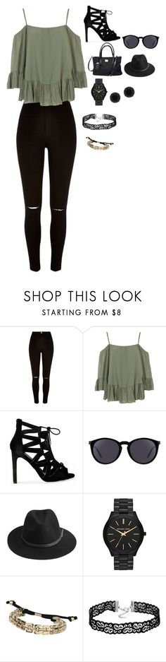 """#18"" by ludivinehusson3 ❤ liked on Polyvore featuring River Island, WalG, Yves Saint Laurent, BeckSöndergaard, Michael Kors, Topshop and Anne Klein"