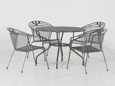 Elegance/Verso 105cm dining tuinset 5-delig Antraciet van MWH DAS ORIGINAL