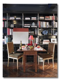 ditto :: a glamorous office and dining room, design by Miles Redd