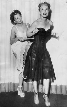 Inspiration: Vintage 1940s lingerie, undergarments. corset, underskirt/ petticoat, bra. Gorgeous.