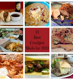 13 Best Crock Pot Meals for 2013. I've been looking for new recipes!