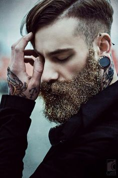 I debated where & if to pin this.... But, I guess this is a trend, and who am I to judge. Everything I hate I eventually love so... Yeah. Represent. You do you. Man Glitter Beard. Get there.