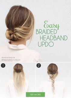 A quick and easy hair tutorial, this braided headband is great even for beginners.