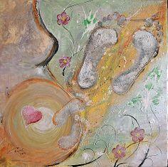 Poď za mnou by Cecil - SAShE. Ale, Handmade, Painting, Hand Made, Painting Art, Ales, Craft, Paintings, Painted Canvas