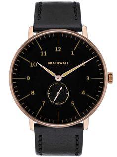 The Minimalist Luminous Wristwatch Melano Strap Front Black