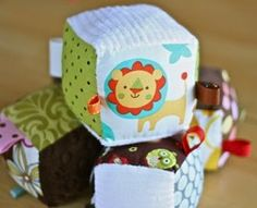 Tutorial: Soft fabric block with ribbon tags | Sewing | CraftGossip.com