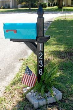 Mailbox makeover! Easy four hour project! #MailboxLandscape