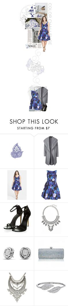 """""""Color Challenge Contest: Blue & Silver"""" by crystal85 ❤ liked on Polyvore featuring Made of Me, ONLY, City Chic, Leith, David Yurman and Penny Preville"""