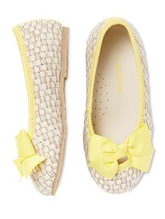 Faux Straw Bow Flats by L'Amour
