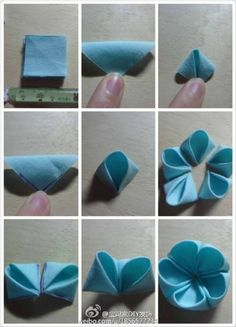 DIY flower by Jersica Diy Hair Bows, Diy Bow, Diy Ribbon, Ribbon Work, Fabric Ribbon, Ribbon Crafts, Flower Crafts, Roses En Ruban Satin, Satin Ribbon Flowers
