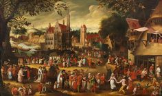 David_Vinckboons_Die_Bauernkirmes.jpg Not 16th century, but rather 17th but still valid for comparison