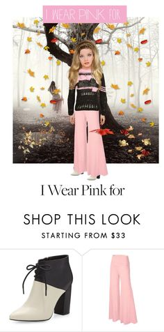 """I Wear Pink For Breast Cancer..Sister-In-Law Becky"" by marlenajo-b ❤ liked on Polyvore featuring Seychelles, Natasha Zinko and IWearPinkFor"
