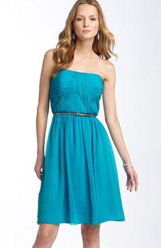 Nordstrom  Donna Morgan Belted Chiffon Dress  KATIE  Caribbean Blue N.  $99.90