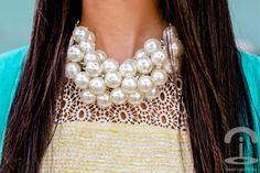 DIY Collar racimo perlas Crimenes de la Moda