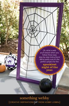 Oh, what a web you'll weave when you  follow these easy step-by-step instructions!